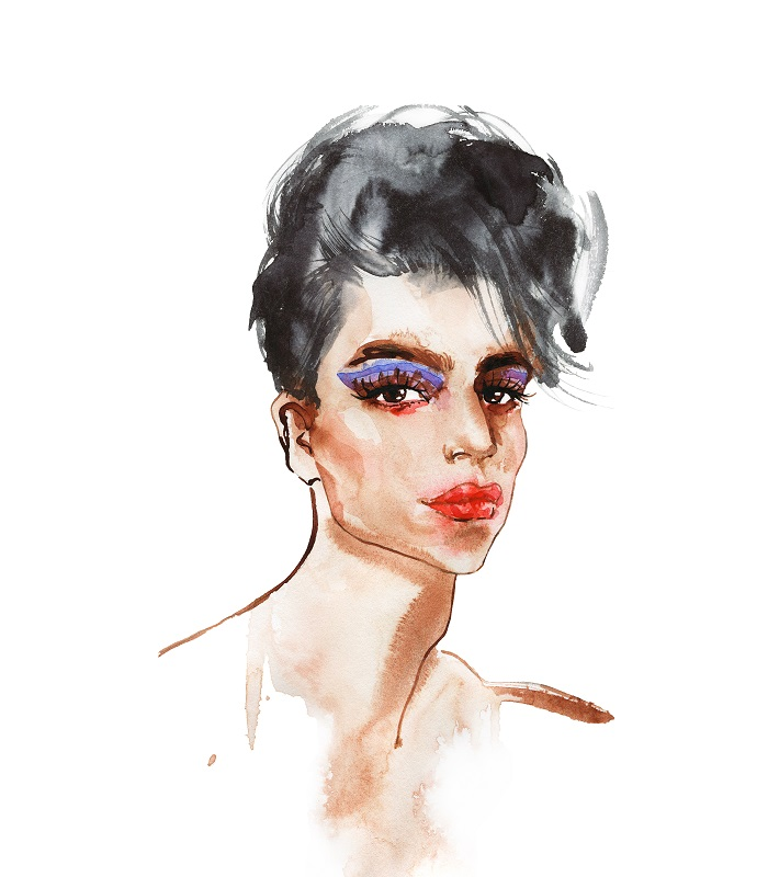 Watercolor of a trans celebrity