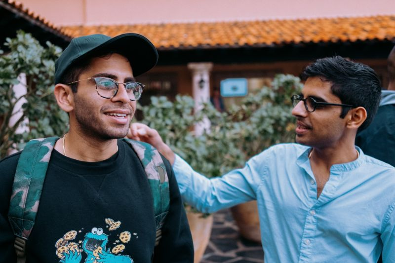 two male friends with glasses