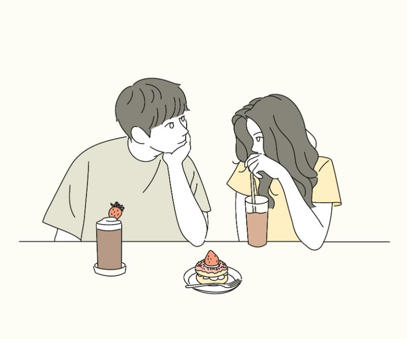 illustration of a first date